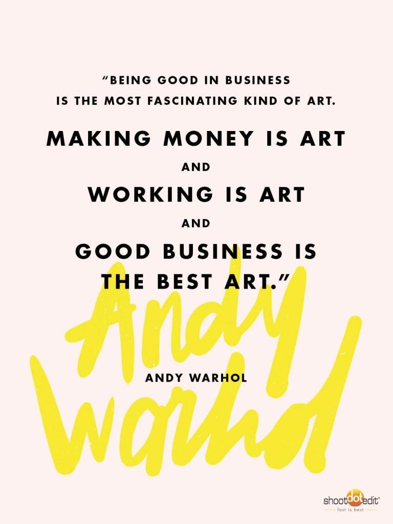 Andy Warhol Quote for Professional Photographers
